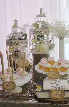 Gorgeous treats at a MidSummer Night's Dream Baby Shower Party! See more party ideas at CatchMyParty.com!