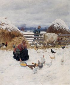 The Athenaeum - In the Barnyard (Charles Courtney Curran - 1891)