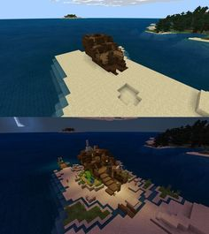 Found this ship just chillin on the coast so i made a cosy house from it. What a… - Everything About Minecraft Minecraft Redstone, Minecraft Farm, Minecraft Medieval, Minecraft Plans, Minecraft Construction, Cool Minecraft Houses, Minecraft Tutorial, Minecraft Blueprints, Minecraft Crafts
