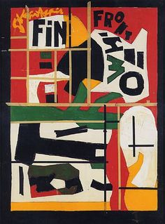 """Fin"" (Last Painting), by STUART DAVIS: In Full Swing 
