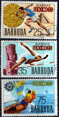 Barbuda 1968 Mexico Olympic Games Set Fine Used SG 28 30 Scott 29 31 Condition Fine Used Only one post charge applied on multiple purchases Details N