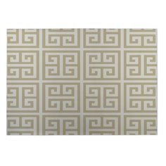 Kavka Designs Gold Infinity Keys Indoor/Outdoor Floor Mat ( 4' X 6' ) (Gold - Contemporary - Geometric), Size 4' x 5'