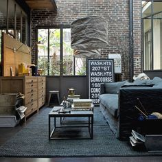 Industrial interior design living room - home design interio
