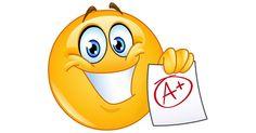 A plus grade emoticon. Happy emoticon showing a paper with perfect grade a plus stock illustration Emoticon Feliz, Happy Emoticon, Smiley Emoji, Smiley Faces, Emoticon Faces, Images Emoji, Emoji Pictures, Funny Emoticons, Funny Emoji