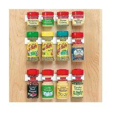 Spice Clip White Plastic 12-jar Spice Rack (White)