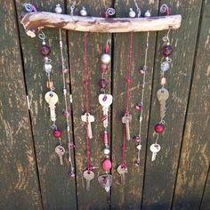 Hanging Mobile, Mobile Art, Metal Beads, Glass Beads, Beaded Dragonfly, Diy Wind Chimes, Wire Crafts, Sun Catcher, Wire Art