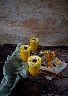 Golden Milk Chai with Coconut Whipped Cream Coconut Whipped Cream, Vanilla Cream, Coconut Milk, Throat Lozenge, Golden Milk Latte, Ground Turmeric, Tea Strainer, Coriander Seeds, Chai