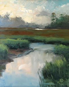 Marsh at Sunrise 16x20 oil landscape by Jacki Newell | jacki newell - Blog
