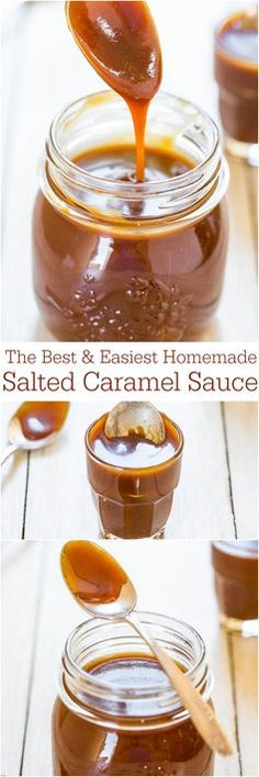 The Best & Easiest Homemade Salted Caramel Sauce - Ready in 15 minutes!