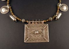 Rajasthan old silver amulet pendants and by ethnicadornment
