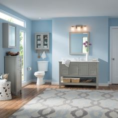 Home Decorators Collection Gazette 49 in. W x 22 in. D Vanity in Grey with Marble Vanity Top in Cararra White with White Basin