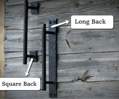 There are basically two types of barn door hardware. The first is a rustic, flat track sliding door system The second is a more modern roller and track style Barn Door Locks, Barn Door Track, Diy Barn Door, Barn Door Handles, Door Pull Handles, Door Pulls, Wooden Sliding Doors, Sliding Barn Door Hardware, Gate Hardware