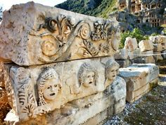 Roman masks at #Myra, #Demre, #Turkey