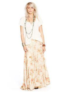 Floral-Print Tiered Maxiskirt - Denim & Supply  Maxi Skirts - RalphLauren.com