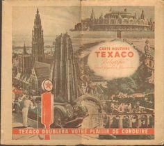 carte routiere Texaco