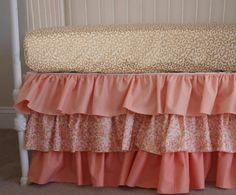 Cheetah Animal Print Metallic Gold and Coral Ombre Bumperless