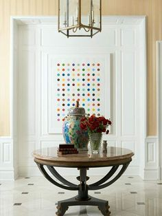 Fresh Ideas For Foyers And Entries. Round Entry TableEntryway ...