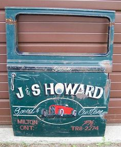 Hand Lettered Door Art, Need some pics Truck Lettering, Vintage Typography, Hand Lettering, Door Letters, Truck Signs, Pinstriping Designs, License Plate Art, Old Pickup Trucks, Sign Writing