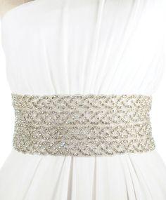 Four Strand Austine Sash | Kirsten Kuehn || handmade crystal bridal sashes