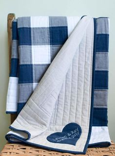Custom Modern Baby or Wedding Quilt Gift Patch Quilt, Quilt Blocks, Plaid Quilt, Navy Quilt, Denim Quilts, Flannel Quilts, Twin Quilt, Blue Jean Quilts, Rustic Quilts