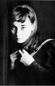 Audrey Hepburn in sailor costume 1951 (Milton Greene)