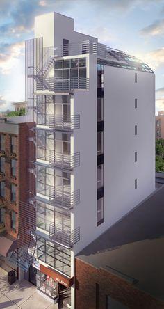Manhattan repurposed residential tower. United Renderworks