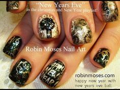 Nail Art Tutorial   Easy NYE nails   DIY New Years Eve Nail Art Design! - YouTube
