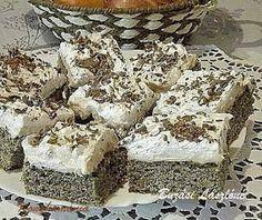 Hasznos cikkek és receptek: Màkos-Krémes kocka Krispie Treats, Rice Krispies, Hungarian Recipes, Hungarian Food, Tiramisu, Ethnic Recipes, Poppy, Hungarian Cuisine, Tiramisu Cake