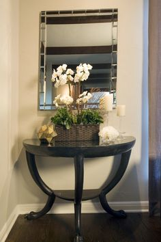 Awesome Half Moon Table Decorating Ideas Images In Es Transitional Design