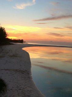 Russel Island sunset.