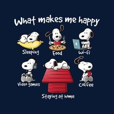Snoopy Staying At Home Makes Me Happy Men's T-Shirt by NemiMakeit - Cloud City 7 Snoopy Cartoon, Peanuts Cartoon, Peanuts Snoopy, Sleep Cartoon, Happy Cartoon, Peanuts Comics, Snoopy Images, Snoopy Pictures, Christmas Quotes