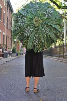 Fern Foliage Umbrella / Plant Umbrella Custom Made Festival image 3
