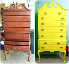 How to turn something old into something bright and new - (I love color - this is beautiful!) love! I have some all white furniture I have literally had since I was like 3, and really want to change it up!