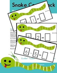 $3  This printable pdf file will allow you to print and make 45 activity cards to help your students learn to count-back for subtraction. Each card fea...