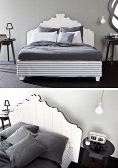 Double #bed with removable cover GRAY 80 by Gervasoni | #design Paola Navone @gervasoni1882