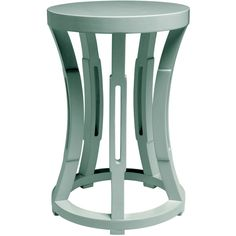 Bungalow 5 Hourglass Light Blue Stool/Side Table (2,475 CNY) ❤ liked on Polyvore featuring home, furniture, tables, accent tables, polish furniture, bungalow 5 furniture, light blue side table, lacquer furniture and light blue furniture