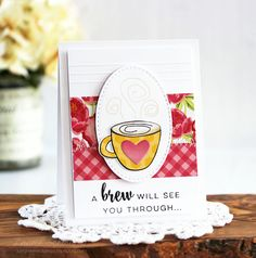 Paper Pieced Coffee Cup Cards by Laurie S. // Gilmore Girls Inspired Post Week - rightathomeshop.com/blog