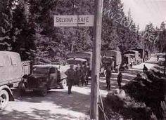 Break of a German motor column in Norway 1940