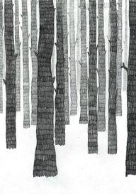 Skog by Frida Stenmark. Beautifully simple idea.