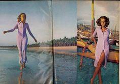Lauren Hutton and Pilar Crespi by Henry Clarke. Vogue December 1970