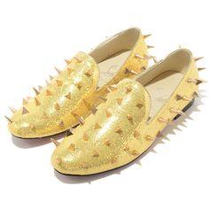 Christian Louboutin Men Glitter spiked Sneakers
