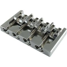 Hipshot 4 String Type A Bass Bridge, Aluminum (Chrome Finish) by Hipshot. $79.95. Retrofits your Fender five hole mount bridge on your 4 string bass using the two outer holes and the center hole. The type A saddles feature variable string spacing adjustment for even greater versatility and fine intonation adjustment as well. 4 String Bass Bridge. Type A Fender Mount (3 Mounting Holes). String-Through. Lightweight Aluminum Construction, Chrome Finish. 19mm Strin...