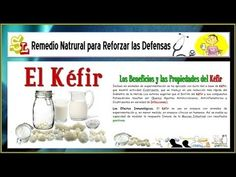 Remedios para la Reforzar las Defensas - Regenerar la Flora Intestinal - Kéfir de Leche y Agua - YouTube
