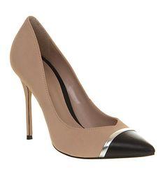 Office Jester Nude Black Leather - High Heels