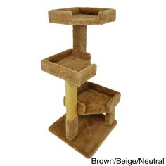 New Cat Condos Solid Wood 46-inch Triple Kitty Pad Tree