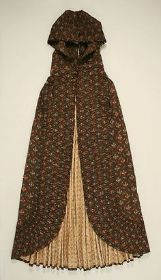 Cape (image 1) | probably British | early 19th century | cotton | Metropolitan Museum of Art | Accession #: C.I.39.2.2