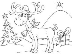 a cute reindeer coloring page to color in for christmas color it in or - Christmas Reindeer Coloring Pages