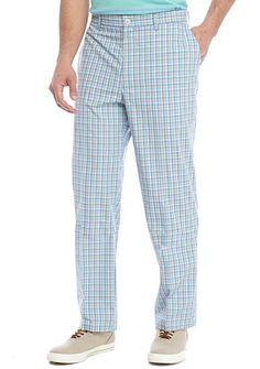 pick up 2a5ae 2f4f9 Saddlebred® Flat Front Gingham Pants Gingham Pants, Printed Polo Shirts,  Linen Pants,
