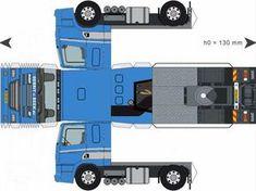 Free Download Paper Model Trucks | Trailer-GerritvanBeek
