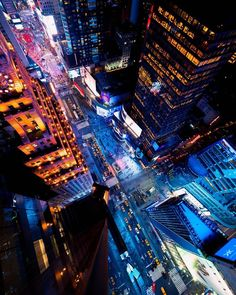 Times Square from above by Opoline | via newyorkcityfeelings.com - The Best Photos and Videos of New York City including the Statue of Liberty Brooklyn Bridge Central Park Empire State Building Chrysler Building and other popular New York places and attractions.